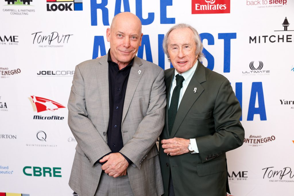 Phil Huzzard and Sir Jackie Stewart